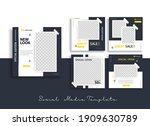 set of editable minimal square... | Shutterstock .eps vector #1909630789