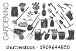 gardening tools and plants or...   Shutterstock .eps vector #1909644850