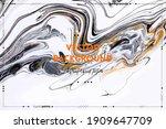 fluid art texture. background... | Shutterstock .eps vector #1909647709