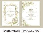elegant hand drawing wedding...   Shutterstock .eps vector #1909669729