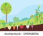 garden in spring with... | Shutterstock .eps vector #190968056