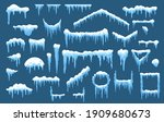 set of isolated vector ice and... | Shutterstock .eps vector #1909680673