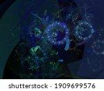 imaginatory lush fractal... | Shutterstock . vector #1909699576