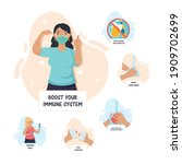 boost your immune system... | Shutterstock .eps vector #1909702699