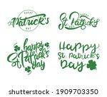 bundle of four happy saint... | Shutterstock .eps vector #1909703350