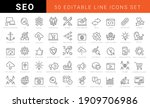set of vector seo search engine ... | Shutterstock .eps vector #1909706986