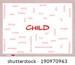 child word cloud concept on a... | Shutterstock . vector #190970963
