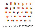bauhaus letters and numbers set....   Shutterstock .eps vector #1909716550