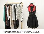 Dressing Closet With Polka Dots ...