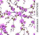 decorative watercolor seamless...   Shutterstock . vector #1909747630
