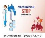 coronavirus vector background...   Shutterstock .eps vector #1909772749