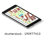 isometric city map on a... | Shutterstock .eps vector #190977413