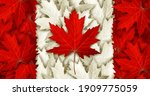 Canada Leaf Flag Made With As...