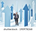 standing man and 3d abstract... | Shutterstock . vector #190978268