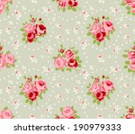 Shabby Chic Rose Patterns And...