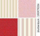 set of four cute seamless... | Shutterstock . vector #190979354