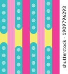 bright blue and pink stripes of ...