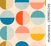 colorful round icons. hand... | Shutterstock .eps vector #1909801246