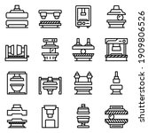 press form machines icons set....   Shutterstock .eps vector #1909806526