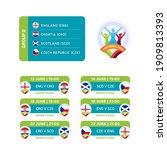 football 2020 tournament final... | Shutterstock .eps vector #1909813393
