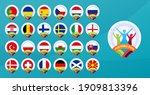 football euro 2020 tournament... | Shutterstock .eps vector #1909813396