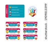 football 2020 tournament final... | Shutterstock .eps vector #1909813399