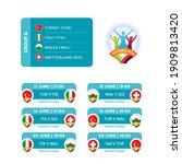 football 2020 tournament final... | Shutterstock .eps vector #1909813420