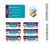 football 2020 tournament final... | Shutterstock .eps vector #1909813423