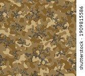 camouflage grunge khaki... | Shutterstock .eps vector #1909815586