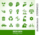 ecology icons isolated on white.... | Shutterstock .eps vector #190984013