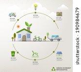 vector ecology concept ... | Shutterstock .eps vector #190984679