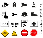 Security or safety Icon set