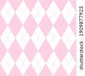 valentines day argyle plaid....   Shutterstock .eps vector #1909877923