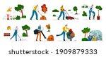 vector flat illustration set... | Shutterstock .eps vector #1909879333