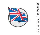 british flag national flag on...   Shutterstock .eps vector #1909887139