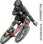 illustration of a man jumping...   Shutterstock .eps vector #1909887706