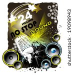 vector grunge music event banner   Shutterstock .eps vector #19098943