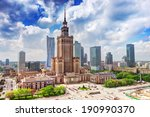 Warsaw  Poland. Aerial View...