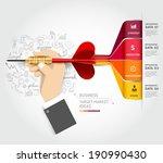 business target marketing... | Shutterstock .eps vector #190990430