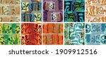 vector seamless pattern set.... | Shutterstock .eps vector #1909912516
