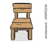 Wooden Chair   Cartoon Vector...