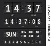 airport style countdown timer.... | Shutterstock .eps vector #190992464