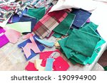 Colorful Scraps Of Fabric For...