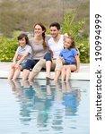 parents with children relaxing... | Shutterstock . vector #190994999