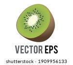 the isolated vector kiwi fruit... | Shutterstock .eps vector #1909956133