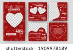 set of editable square banners... | Shutterstock .eps vector #1909978189