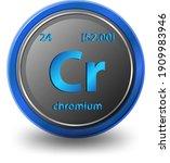 chromium chemical element.... | Shutterstock .eps vector #1909983946