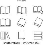book icon isolated on white...