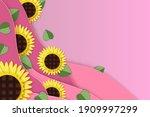 sunflower paper cut style.... | Shutterstock .eps vector #1909997299