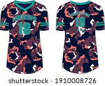 women camouflage sports jersey... | Shutterstock .eps vector #1910008726